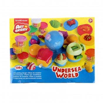 Пластилин на растительной основе undersea world 8 бан*35г, ek 35632