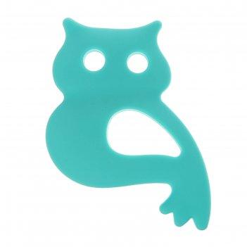 Прорезыватель силиконовый «совушка», цвет микс