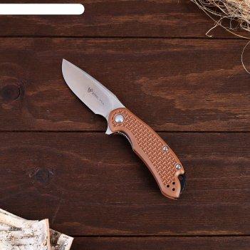 Нож складной steel will cutjack коричневый, клинок 77мм