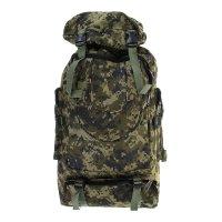 Рюкзак-трансформер туристический милитари, 1 отдел, 3 наружных и 2 боковых
