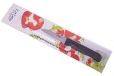 Нож элегант для овощей 18/7,5см черная пластиковая ручка, в блистере