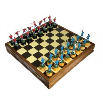 Шахматы эксклюзивные с фигурами из цинкового сплава покрашенными 47х47см
