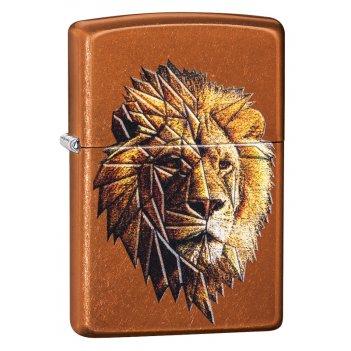 Зажигалка zippo polygonal lion с покрытием toffee™, латунь/сталь, медная,