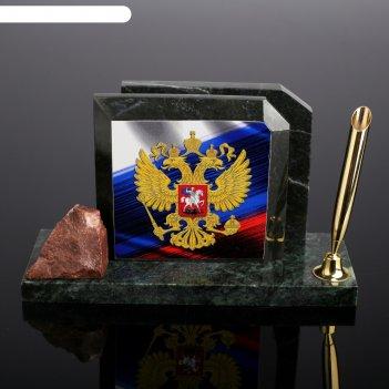 Набор настольный флаг с гербом, скос, змеевик
