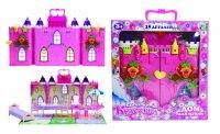 Т56584, 1toy красотка замок для кукол земляничка с меб., 29 дет, 34,6х10