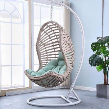 Подвесное кресло cocoon chair 810 light beige, садовая мебель