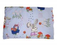 Комплект в кроватку малютка, 7 предметов, голубой, рисунок микс