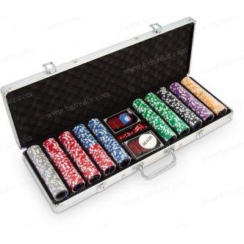 Набор для покера на 500 фишек ultimate premium 14 гр.