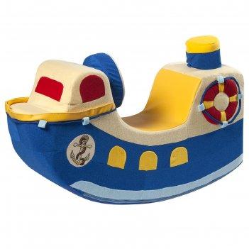 Детская качалка кораблик, синий