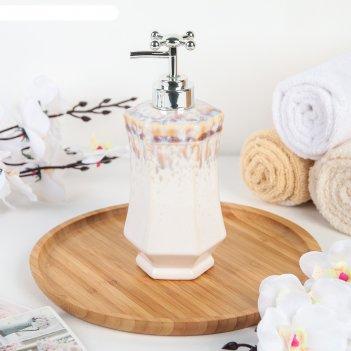 Дозатор для жидкого мыла «эльза», цвет перламутр