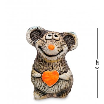 Kk-613 фигурка мышонок с сердцем шамот