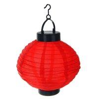 Фонарь садовый на солнечной батарее фонарик красный 23 х 20 х 20 см, 1 led
