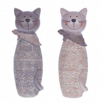 Фигурка декоративная кот, l9 w8 h23 см, 2в.