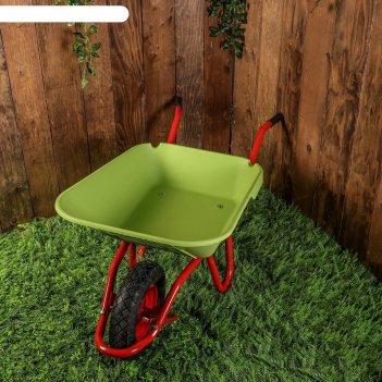 Тачка садовая, одноколёсная: объём 95 л, груз/п 150 кг, пневмоколесо, коры