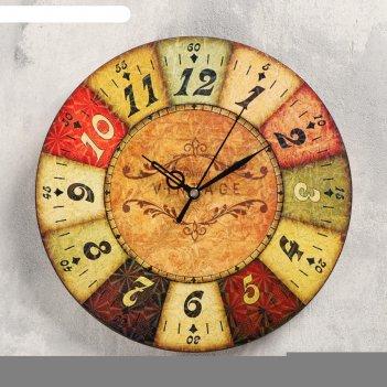 Часы настенные сицилия,  d- 23.5. плавный ход