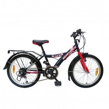 Велосипед 20 novatrack racer, 2017, 12ск., цвет черный