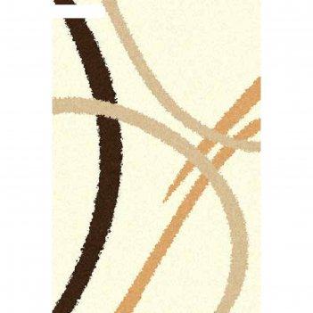 Ковёр shaggy ultra s606, 2,5*5 м, прямоугольный, cream