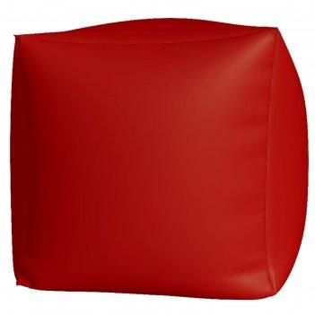 Пуфик куб макси, ткань нейлон, цвет красный