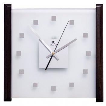 Настенные часы e-01  венге 330х330х30 мм
