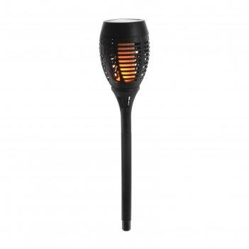 Фонарь садовый на солнечной батарее старт маори огонь, 36 светодиодов