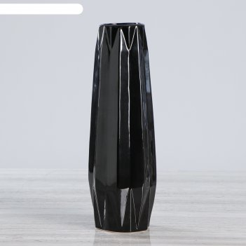 Ваза настольная жаклин, цвет черный, 31 см