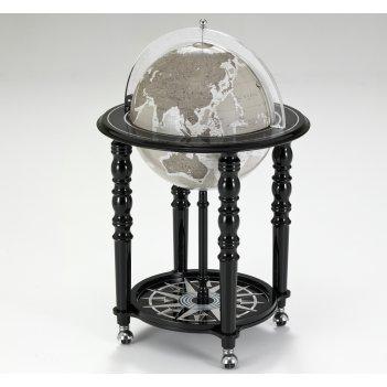 Глобус-бар с современной картой, сфера 40см,h.92см