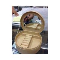 Шкатулка для колец с зеркалом, картон,18.5х15.5х7 см