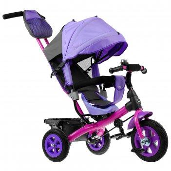 Велосипед трёхколёсный «лучик vivat 1», надувные колёса 10/8, цвет фиолето