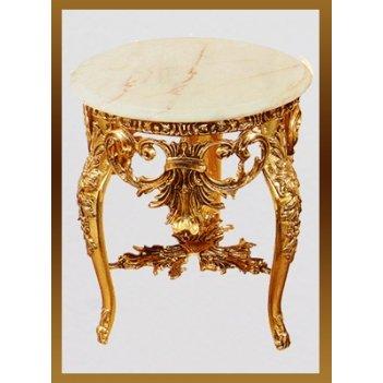 Стол из бронзы virtus наполеон круглый с кружевом золото d45х57см 8163