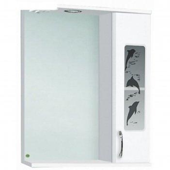 Зеркало-шкаф дельфин 600  правое с подсветкой, белое арт. 10090