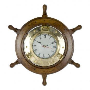Часы штурвал арт.975