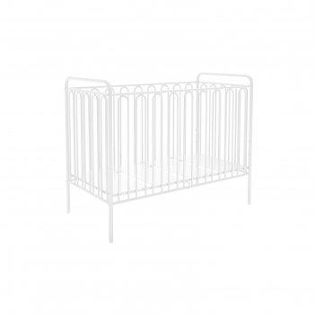 Детская кроватка polini kids vintage 150 металлическая, цвет белый