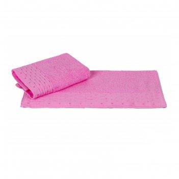 Полотенце gofre, размер 50 x 90 см, розовый