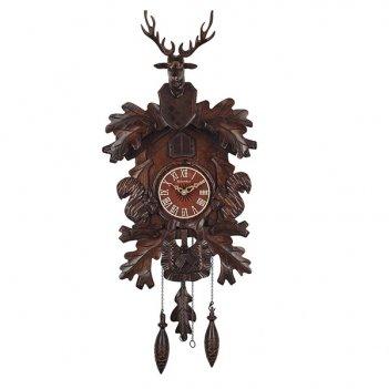 Настенные часы с кукушкой columbus олень и лень cq-073