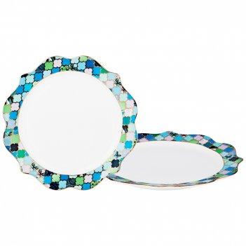 Набор подстановочных тарелок из 2-х шт диаметр=28 см (кор=18набор.)