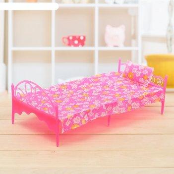 Кроватка для кукол уют с комплектом, в пакете