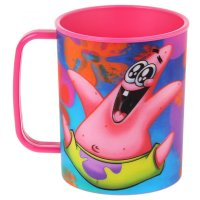Чашка 325 мл губка боб, цвет розовый 3d