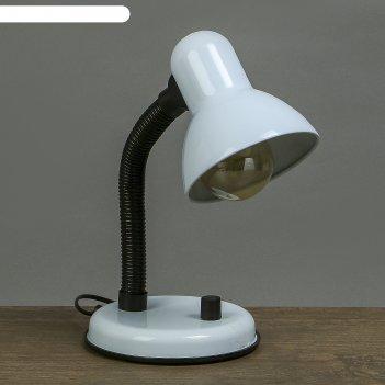 Лампа настольная е27, светорегулятор (220в) белая 34х14х14