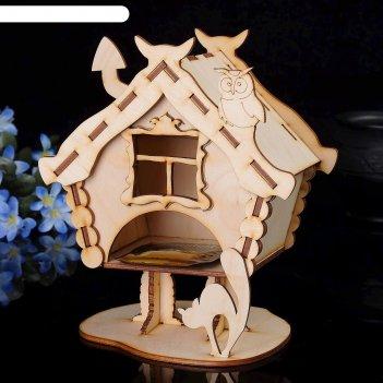 Чайный домик «избушка с животными» 11х13х20см