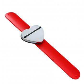 Магнитный браслет-держатель для шпилек и невидимок сердце 23,5*6см микс