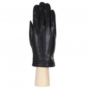 Перчатки мужские, натуральная кожа (размер 8) черный