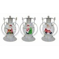 Фигурка декоративная новогодняя в стеклянном шаре со свето...