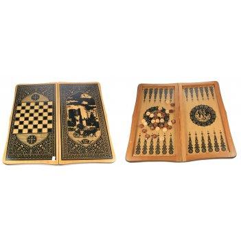 Игра настольная нарды и шахматы 64*31см