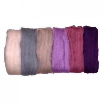 Набор шерсти для валяния рто цветущая лаванда