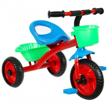 Велосипед трехколесный micio antic, цвет красный/синий/зеленый