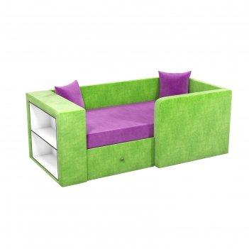 Детский диван «орнелла», механизм выкатной, микровельвет, цвет фиолетовый