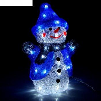 Фигура акрил. снеговик 21х13х29 см, контроллер с димером, 40 led, 220v