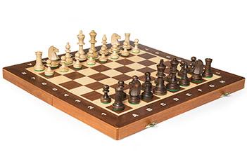 Шахматы tournament №4 (турнирные 4) король 8,5см, доска махагон 42х42см