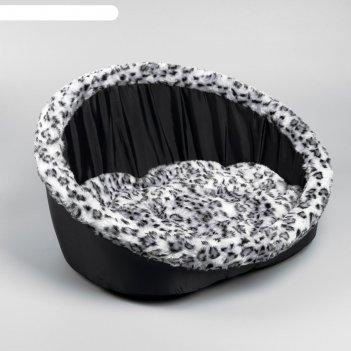 Лежак ассоль, 57 x 32 x 28 см, черный