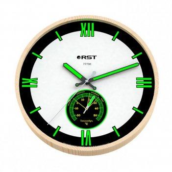 Настенные часы с термометром rst 77730